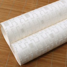 Chinese square embossed non-woven wallpaper high-end home decoration for living room bedroom improvement project
