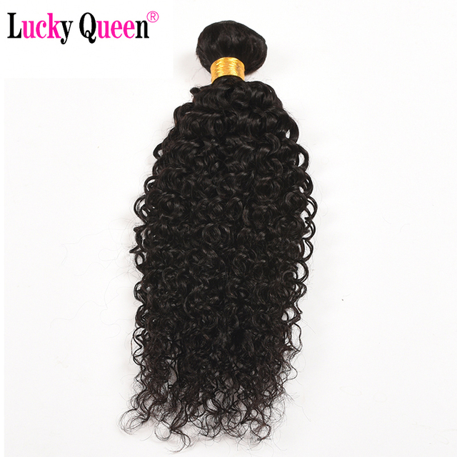 Mongolian Kinky Curly Hair Weave Bundles 1 Piece 10-28 Inch Lucky Queen Hair Products 100% Human Hair Extensions Non-Remy Hair