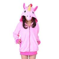 Pink Blue Purple Pegasus Fleece Animal Adult Hoody Sweatshirts Unicorn Cosplay Costume For Party Wear Halloween