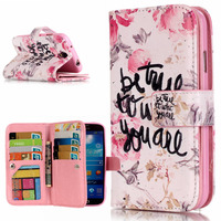 3D Relief Leopard Phone Case For Samsung Galaxy S4 Case Leather Wallet Silicone Flip Case Samsung