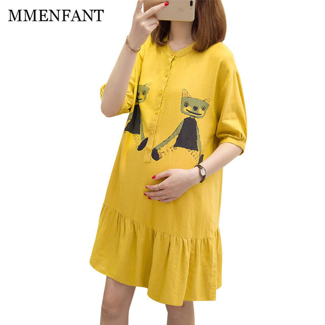 Maternity dresses autumn tops nursing clothes 2017 Spring and Autumn ...