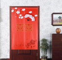 Nice Curtains Chinese style Feng shui door curtain wedding marry cloth curtain kitchen toilet partition bedroom red door curtain