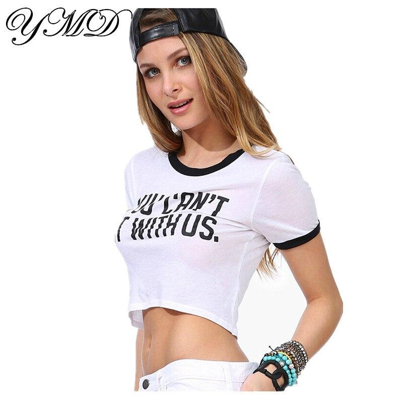 T Shirt Women White Crop Top Crop Tops Plus Size Top