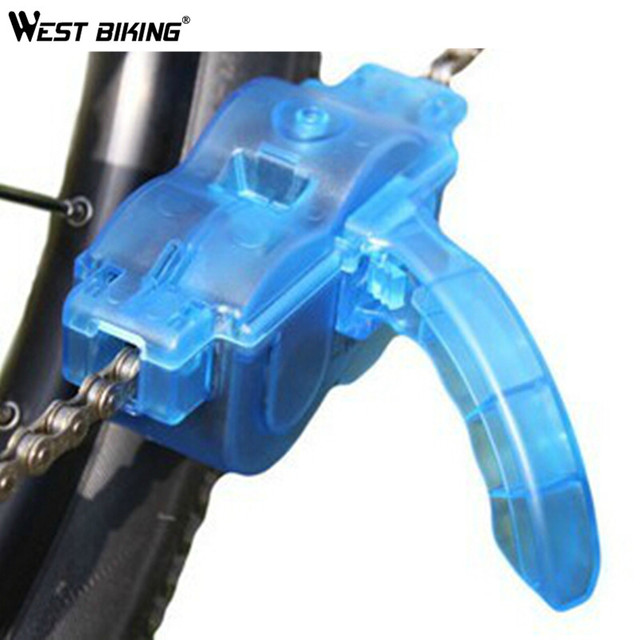 WEST BIKING Bicycle Chain Cleaner Cycling Repair Machine Brushes Scrubber Wash Tool MTB Mountain Bike Chain Cleaner Tool Kits