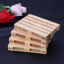 4 Pcs Mini Pallet Wood Beverage Drink Coasters