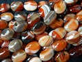Free shipping   natural 15*20mm red dream onyx agate beads oval stone