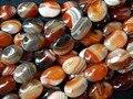 Frete grátis naturais 15*20mm vermelho sonho ágata ônix contas de pedra oval