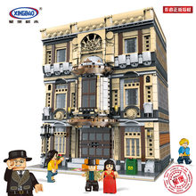 DHL XingBao 01005 Safety City Series MOC Maritime Museum Bookstore Building Blocks Creative toys for kids bricks Gifts(China)