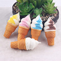 18pcs Ice Cream Phone Straps Soft Squishy Slow Rising Squeeze Toys for Bags/Cell Phone Kids Toy