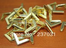 Side length 15MM yellow color book corner / notebook Corner / Corner Recipes metal / small decorative accessories