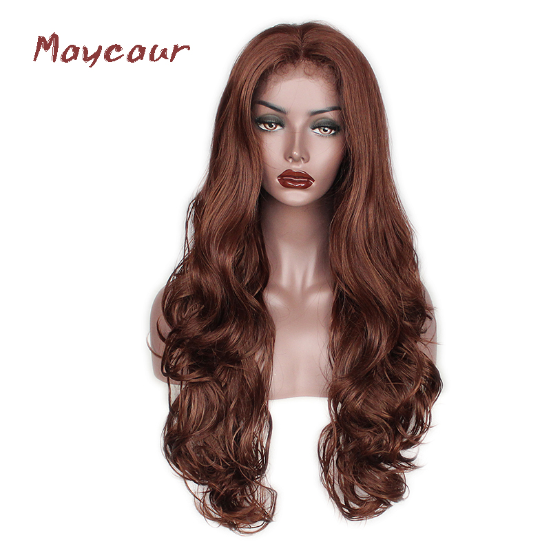 #33 Color Body Wave Synthetic Lace Front Wigs Free Part Long Wave Wigs For Black Women 180 Density