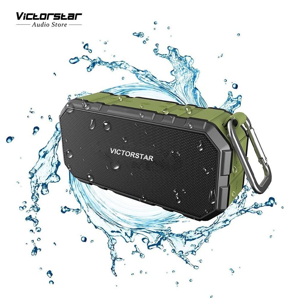 Outdoor Waterproof Bluetooth Speakers IPX4, 4Wx2 HD Sound and Bass Speakers, 5200mAh Battery, Mic, TF Card, Power Bank Supported