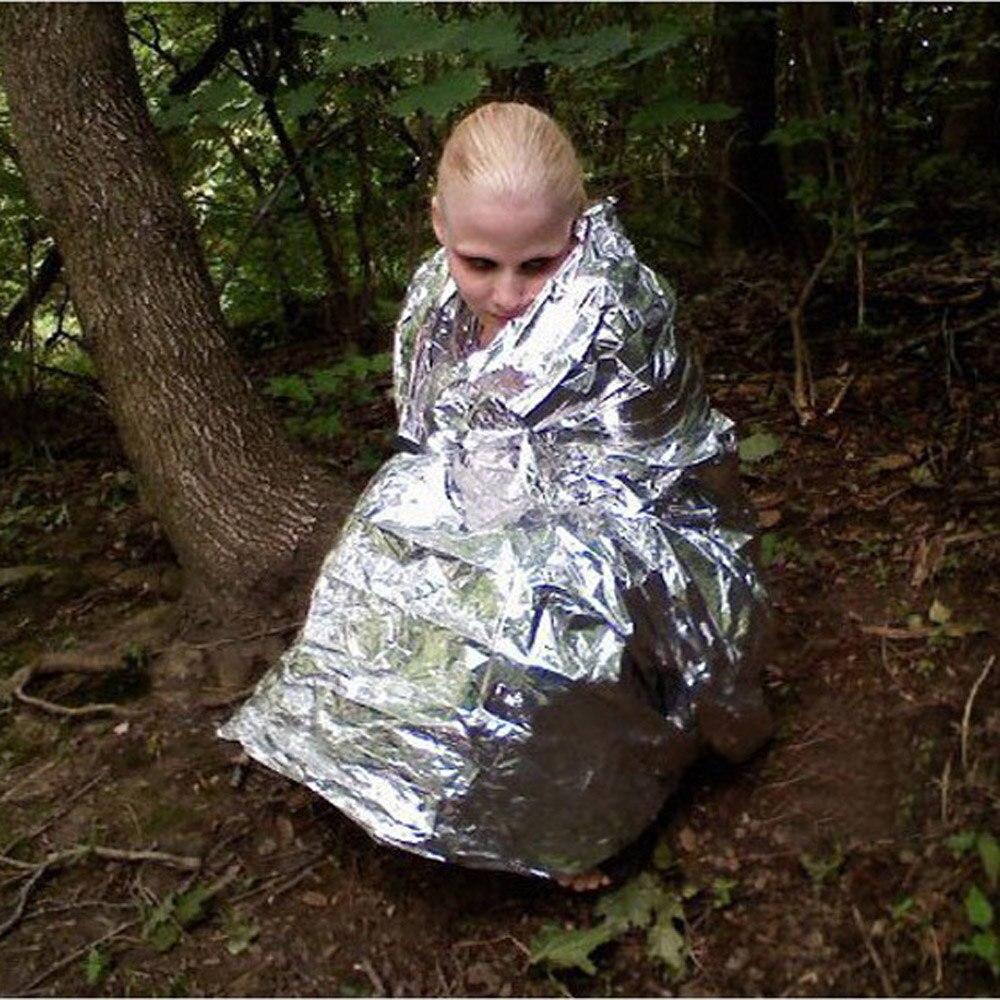 Открытый Водонепроницаемый аварийного Выживание спасения спальный мешок Одеяло Фольга Термальность пространство FirstAid Щепка спасательных Шторы Военная Униформа сумка
