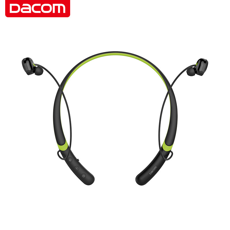 DACOM L02 Dual Drivers Neckband Running Bluetooth Headphone 4.1 IPX5 Waterproof Stereo CVC Noise Cancelling Wireless Earphones edt 6m ir infrared wireless dual channel stereo headphone