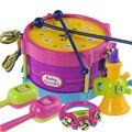 Mão do bebê tambor música quiz afagou crianças educação infantil 1 0 aos 6 e 12 meses brinquedos do bebê