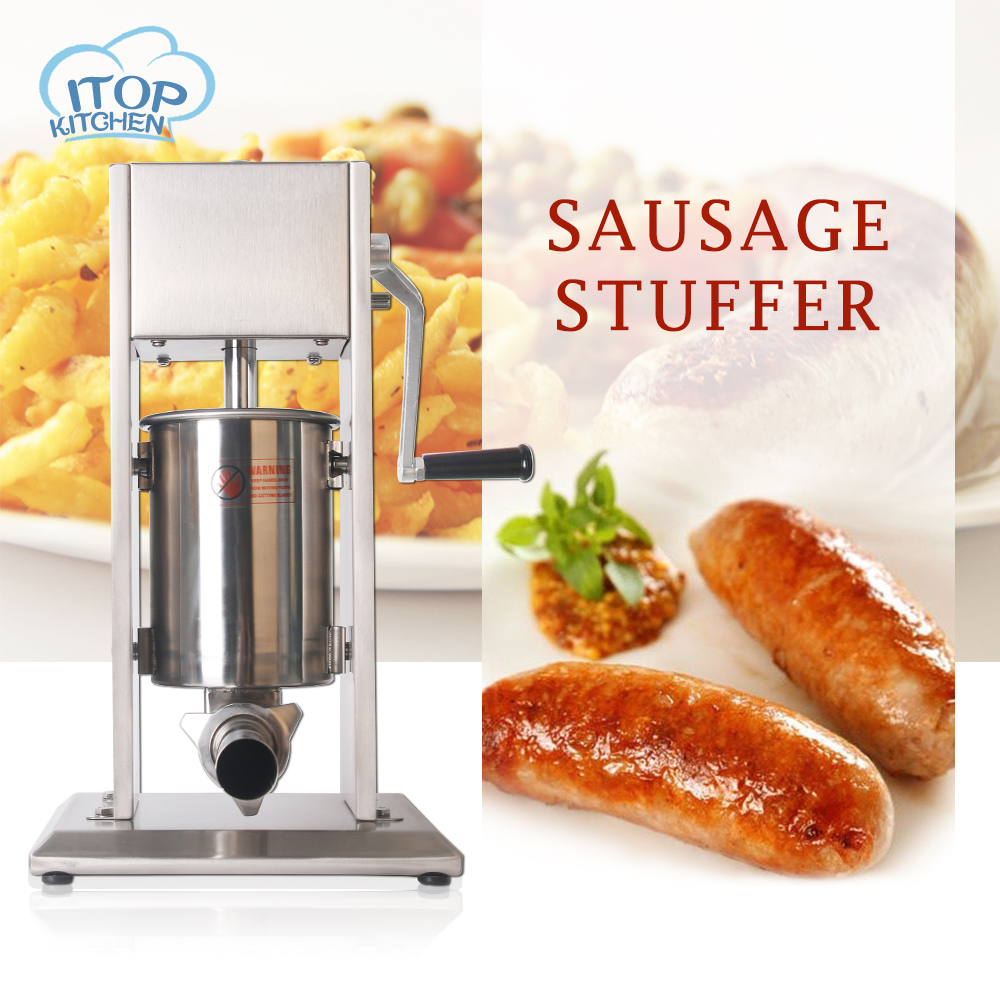 Fast shipping ITOP vertical stainless steel sausage stuffer 3L, sausage filler maker machine 3L for home use commerical use