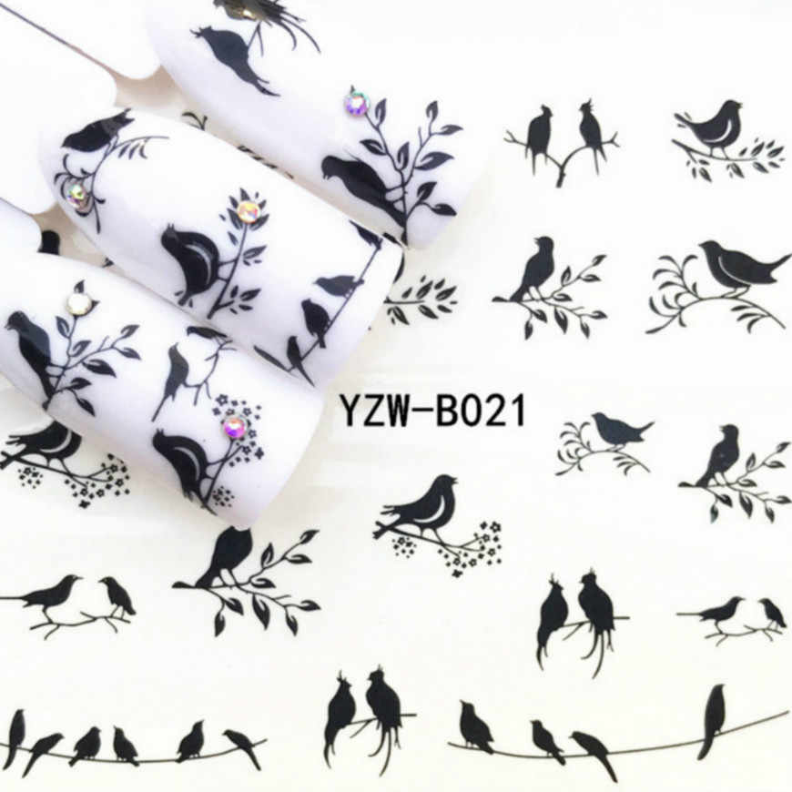 2018 HOT Redbreast Nail Sticker Vlinder Bloem Water Transfer Decal Sliders voor Nail Art Decoratie Tattoo Manicure Wraps #18