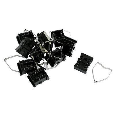 10 Pcs 8 Pin Terminals PCB Mount Relay Socket Base 18FF-2Z-A2 660v ui 10a ith 8 terminals rotary cam universal changeover combination switch