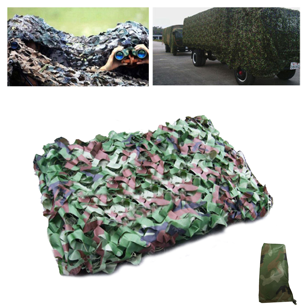 Aolikes 4 Size & 3 Colors Outdoor Military Car Covering Camouflage Army Net Tent Hunting Blinds Netting Cover Conceal Drop Net