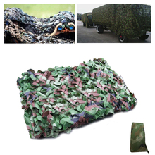 купить 4 Size & 3 Colors Outdoor Military Camouflage Net Army Camo Net Tent Hunting Blinds Netting Cover Conceal Drop Net по цене 674.76 рублей
