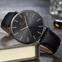 Relogio męskie zegarki Top Brand Luxury ultra-cienki nadgarstek Zegarek męski zegarek mężczyźni zegarek zegar Erkek Kol Saati Reloj hombre tanie tanio Quartz Wristwatches 20mm Wstrząsy Okrągłe Skórzane No waterproof Luksusowy ultra-cienki męski zegarek Szklane 40mm
