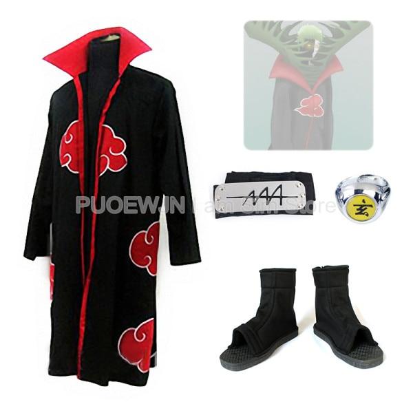 Naruto Akatsuki Zetsu Cosplay Costume