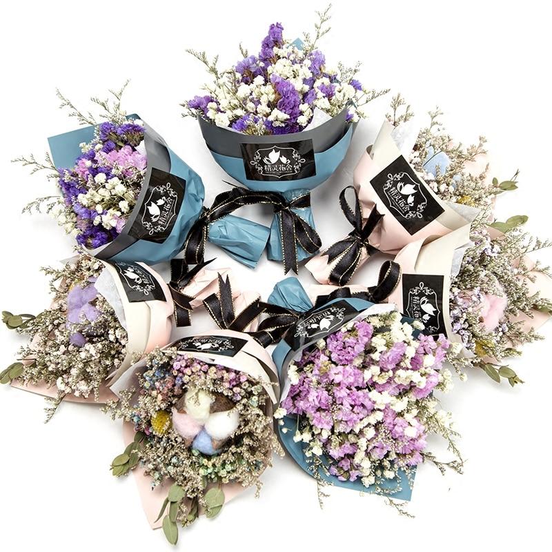 Mini Babysbreath Flowers Natural Dried Flower Bouquet Wedding Party Decor Gift