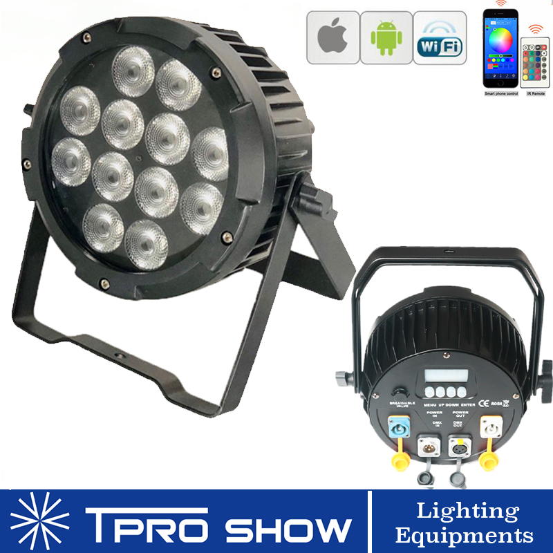 IP65 Dmx Wireless LED Par UV RGBWA Battery Stage Light for Outdoor Wedding Event Disco 9x18W Party Lights