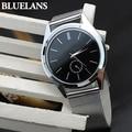 Fashion Men's Mesh Stainless Steel Band Round Dial Quartz Casual Analog Wrist Watches