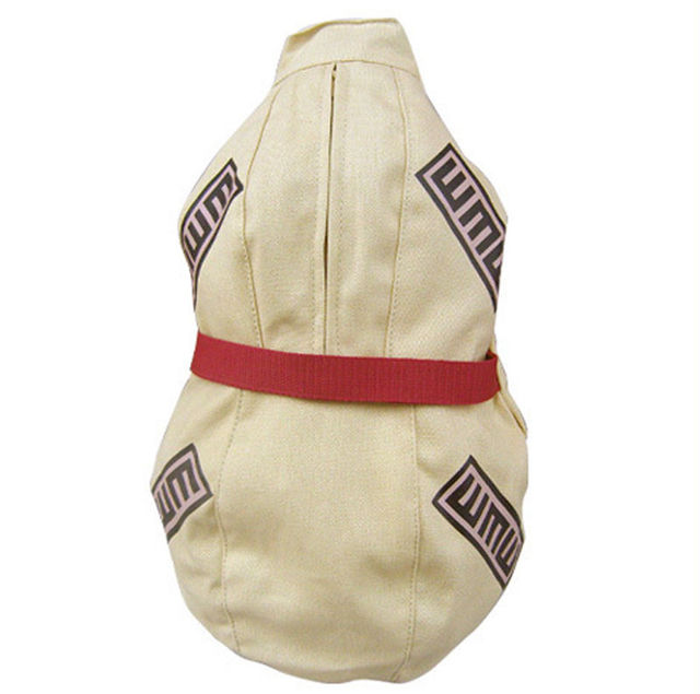 Anime Naruto Gaara Cosplay Gourd Backpack Canvas Sling Shoulder Bag Soft Satchel Small Kids Student Chest Bags Purse Collection