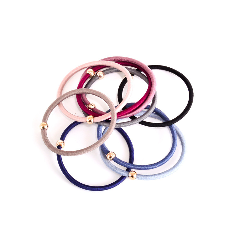 Women's Hair Accessories Conscientious 10 Pcs/lot Gold Color Beads Elastic Hair Ties Girls Ponytai Holder Women Hair Accessories Pt145 Dropshipping New Varieties Are Introduced One After Another
