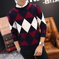 2016 men's fall and winter clothes men pullover sweater O-neck sweater pullover Size M to XXL plus size good quality