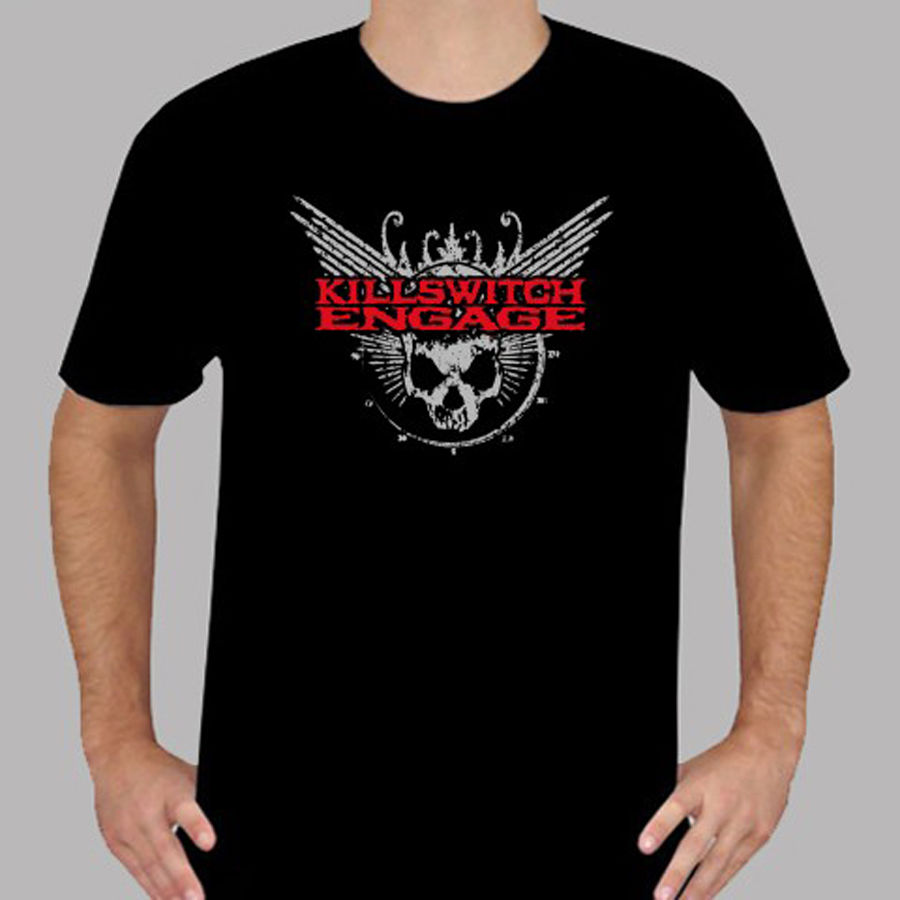 T Shirt Making Crew Neck Short New Killswitch Engage Metal Rock Band Logo Mens Black T-Shirt Size S to 3XL Office Tee For Men