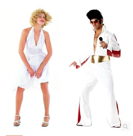 Cosplay Costumes Costume Party Clothing Singer White Elvis Presley Marilyn Monro Cos Dress In From Novelty