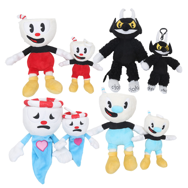 15 28cm Game Cuphead & Mugman Plush Toy Mecup And Brocup ...