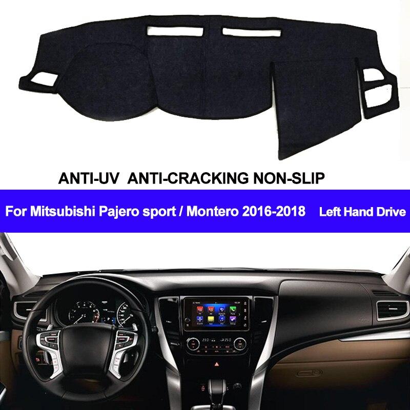 Car Dashboard Cover For Mitsubishi Pajero sport / Montero 2016 2017 2018 Dashmat Pad Carpet Cover Dashboard Dash Mat Sun Shade Mitsubishi Pajero