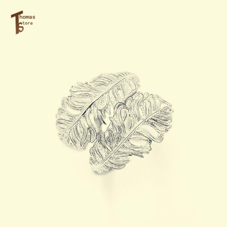 RS1267 перо кольцо Евро-американский стиль глэм и Soul хорошее украшения для Для мужчин и Для женщин 2015 Ts подарок в s925 посеребренный