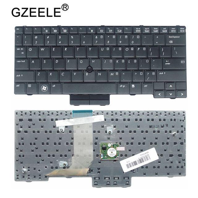 GZEELE Новая черная клавиатура с раскладкой стандарта США для hp EliteBook 2540 2540 p 598790-001 V108602AS1 PK1309C2A00 английская версия