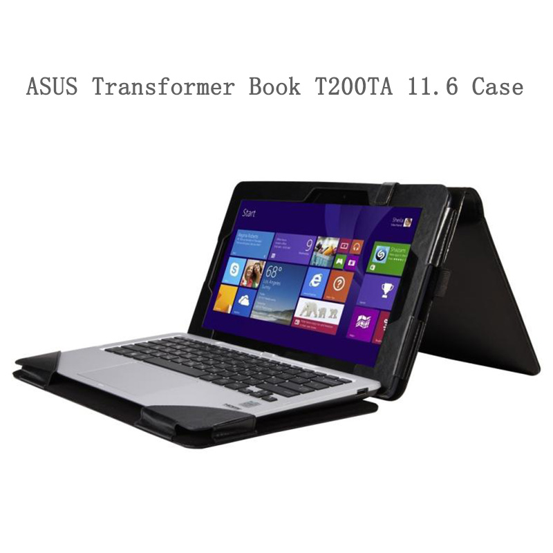 PU Leather Cover For ASUS Transformer Book T200TA 11.6inch Flip Folio Tablet Case For ASUS T200TA 11.6 Laptop flip cover for asus transformer book