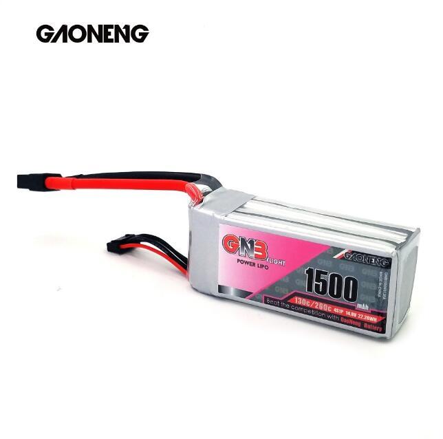 GNB 1500MAH 4S 14.8V 130C lipo battery for FPV drones