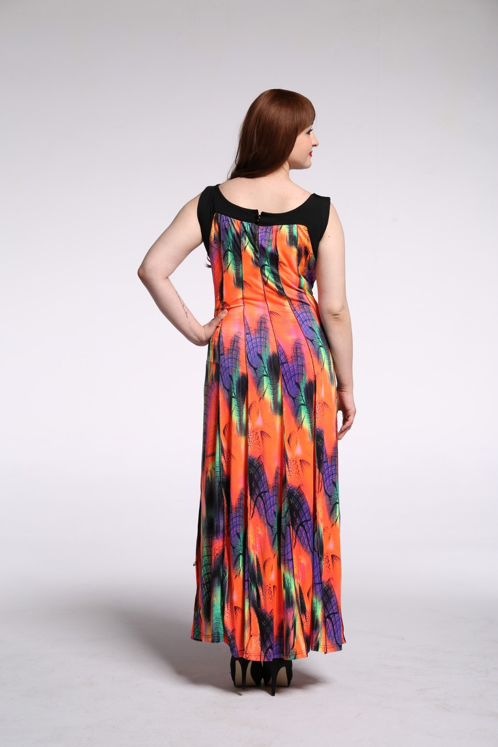 Brand New Summer Bohemian Dress Feather Printed Casual Pleated Beach  Dresses Plus Size 7XL 6XL 5XL Long Maxi Dress Party Dresses-in Dresses from  Women s ... 276ff76d14ef