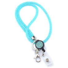 Camera Badges Holder Necklace Strap Mesh Mobile Phone Universal Lanyard Keychain Crystal For Cellphones Lightweight Hanging Rope(China)