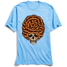 Bigwig Theory T-shirts for Men Customized Hippie Skull T-Shirt Brand Casual TShirt Round Collar Father Day All Cotton Clothes