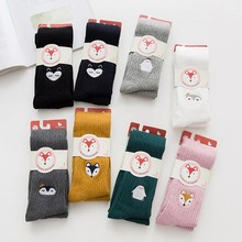 Winter Girls Pants Toddler Knitted Pantyhose Warm Baby Tights Multi Colors Girl Stocking For 2-10 Y