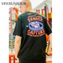 VFIVEUNFOUR Printing Tshirts Streetwear Mens Hip Hop Harajuku Tops Tees 2019 Summer Hipster Casual Short Sleeve T Shirts Male