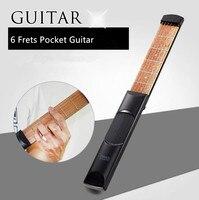 ZONAEL Hot Sale 6 String 6 Fret Portable Pocket Acoustic Guitar Practice Tool Guitar Parts Gadget
