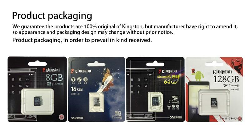 Kingston Class 10 TF 8gb 16gb 32gb 64gb 128gb memory card SDHC SDXC micro sd card 16g 32g 64g 128g microsd microSDHC UHS-I 20
