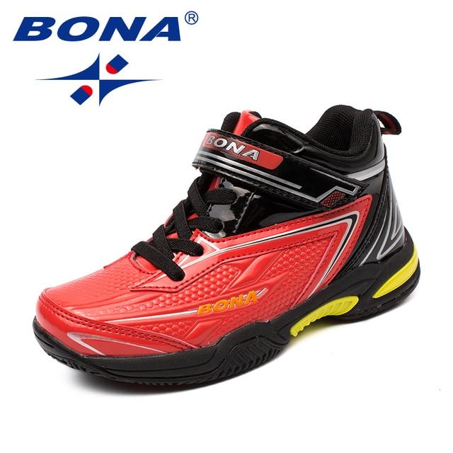 BONA zapatos informales con cordones para niños, zapatillas de suela plana sintética, a la moda para actividades al aire libre, cómodas