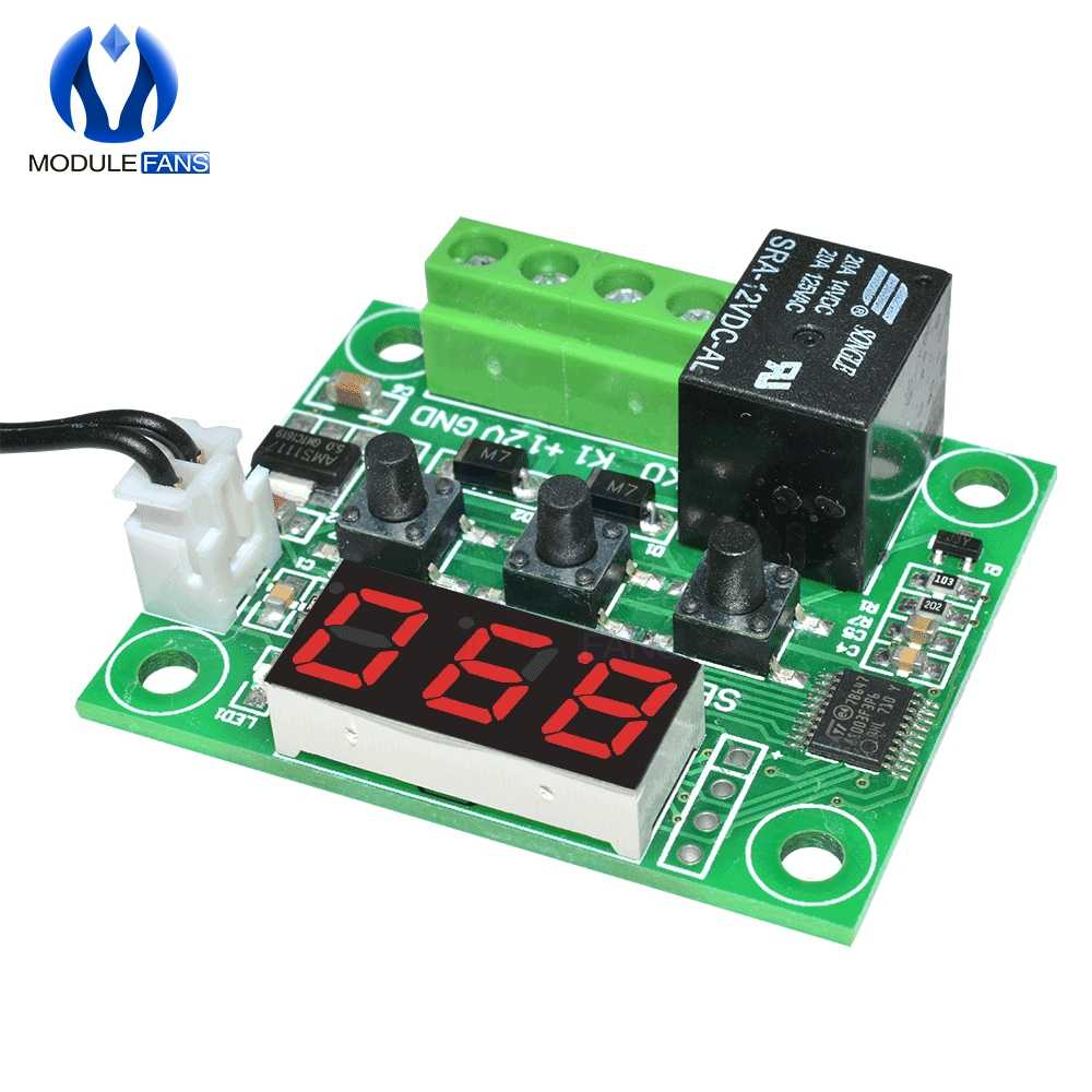 W1209 DC 12V LED Digital Thermostat Temperature Control Thermometer Thermo Controller Switch Module + NTC Sensor