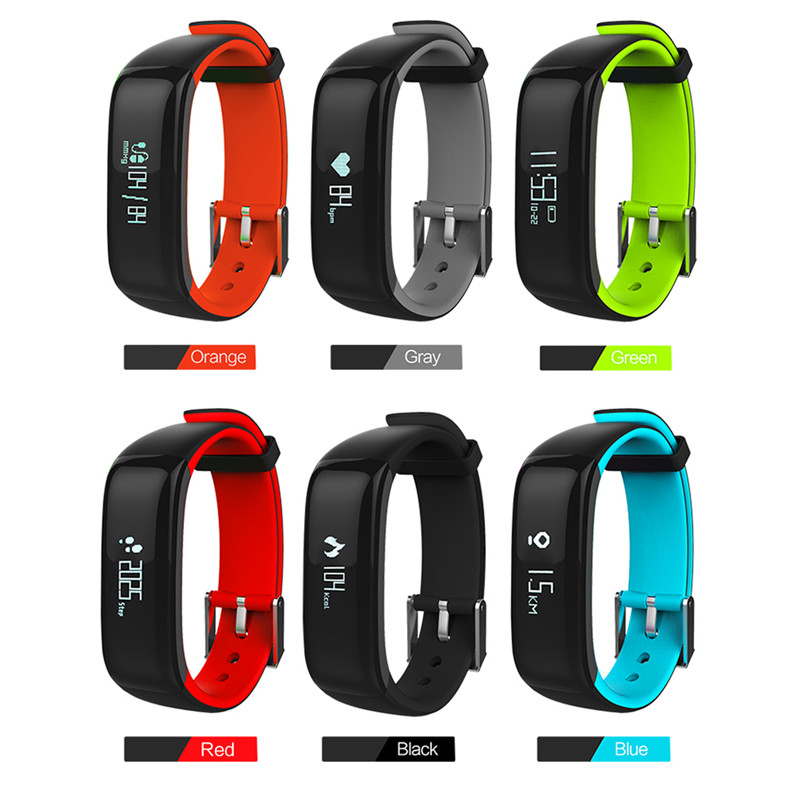 Good P1 Smart Band Watch with Blood Pressure 2018 New Measure Pulse Heart Rate Monitor Smart Bracelet Activity Fitness Watches